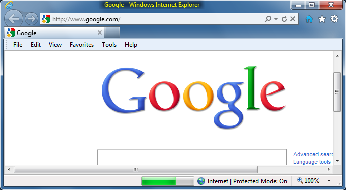 Custom title bar and status bar in Internet Explorer 9